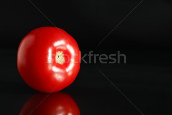 Red Tomato On Black Stock photo © cosma
