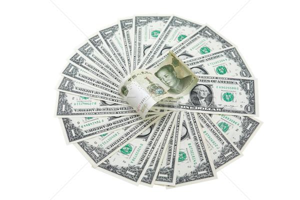 Chinese Yuan And USA Dollars Stock photo © cosma