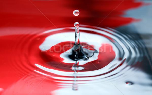Piros fekete csobbanás absztrakt csobbanás csepp Stock fotó © cosma