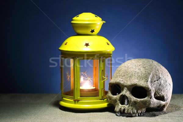 сувенир смерти один человека череп освещение Сток-фото © cosma