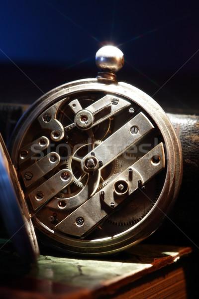 старые часы механизм Vintage натюрморт Сток-фото © cosma