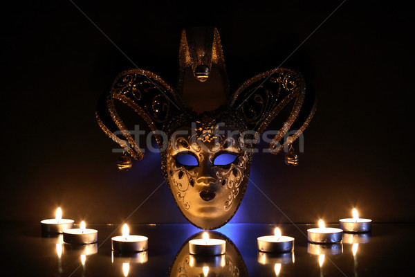 Mask And Candles Stock photo © cosma