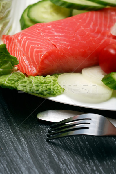 Trout And Vegetables Stock photo © cosma