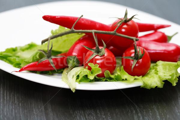 赤 野菜 ホット 唐辛子 チェリートマト 緑 ストックフォト © cosma