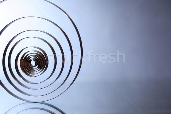 Spirál absztrakt ipari öreg fém szép Stock fotó © cosma