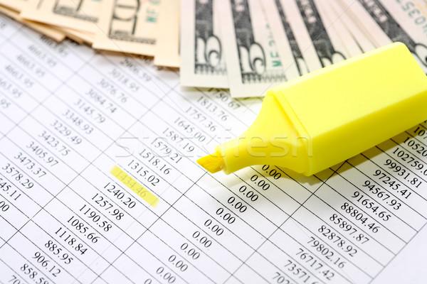 Felt Tip Pen Near Money Stock photo © cosma