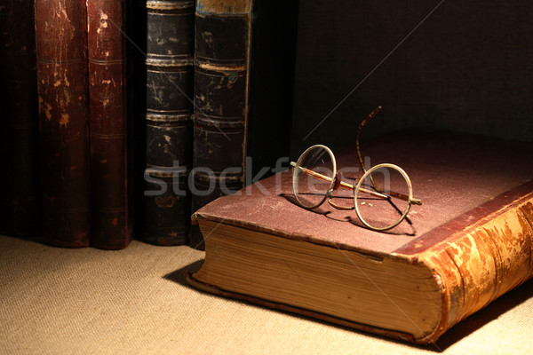 Old Books And Spectacles Stock photo © cosma