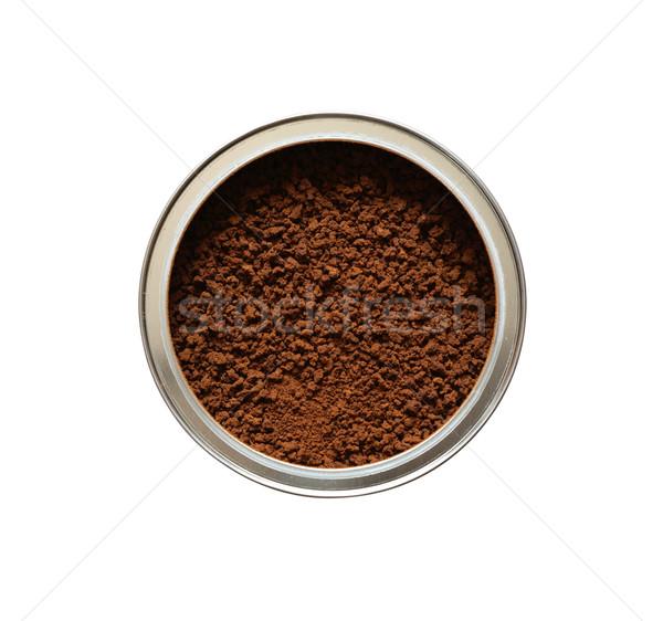 Caffè solubile primo piano può completo bianco Foto d'archivio © cosma