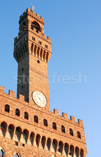 Palazzo Vecchio Clock Tower Stock photo © cosma