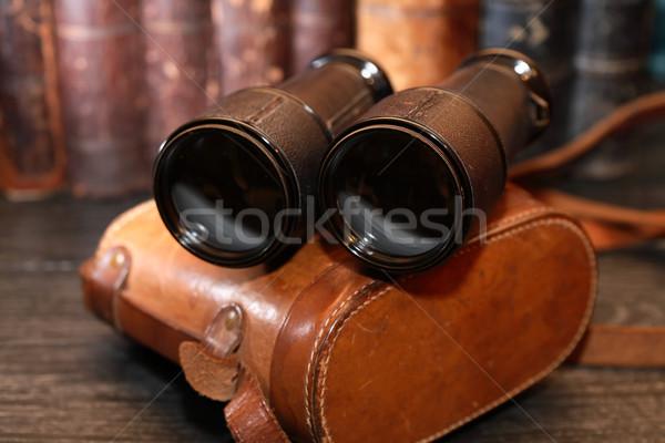 Old Binoculars And Case Stock photo © cosma