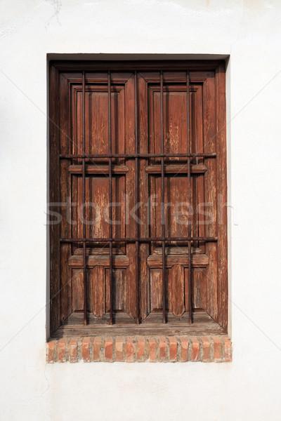 Espanhol velho branco parede fechado janela Foto stock © cosma