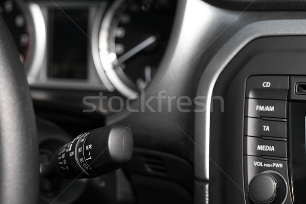 Yeni araç iç gösterge paneli ses ekipmanları kabin modern Stok fotoğraf © cosma