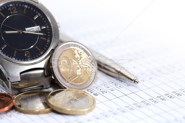 Coins Near Wristwatch Stock photo © cosma