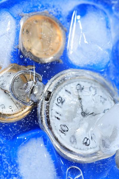 Congelada tempo poucos água gelo Foto stock © cosma