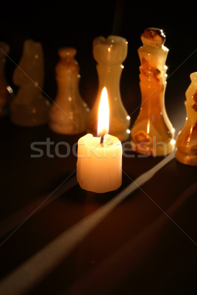 Chess And Candle Stock photo © cosma
