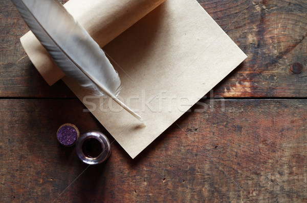 Quill And Scroll Stock photo © cosma