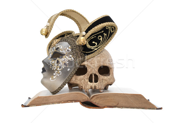 Morte maschera arte vintage ancora vita maschera veneziana Foto d'archivio © cosma