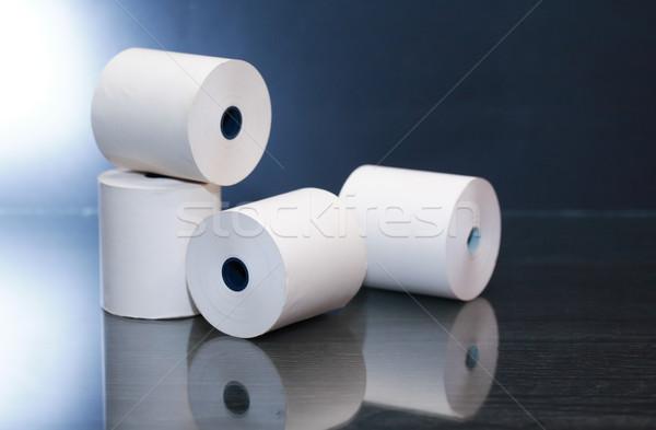 Papír tekercsek sötét fehér tükröződés technológia Stock fotó © cosma