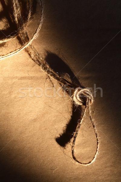 Döngü eski ambalaj kâğıdı gölge kâğıt Stok fotoğraf © cosma