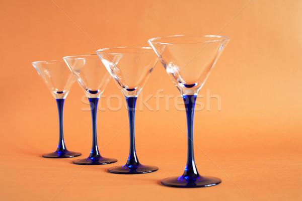 Martini gözlük az boş turuncu Stok fotoğraf © cosma