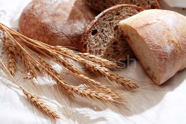 Freshness Bread On Tablecloth Stock photo © cosma