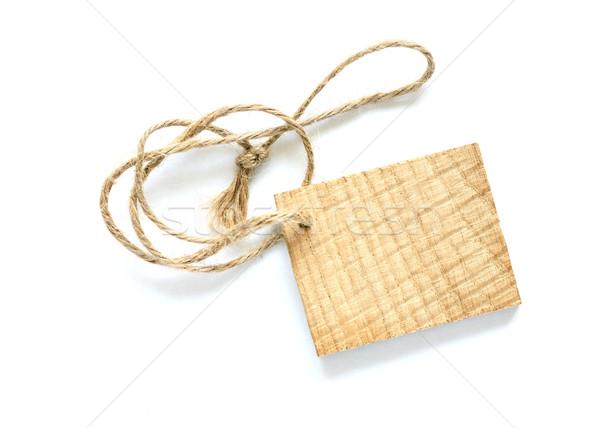 Photo stock: Bois · prix · tag · attaché · corde · blanche
