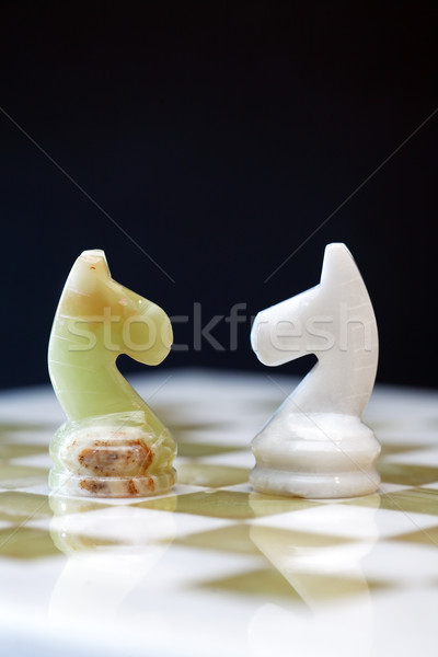 Chess Horses On Board Stock photo © cosma