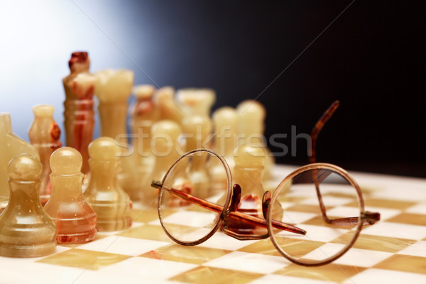 Spectacles On Chessboard Stock photo © cosma