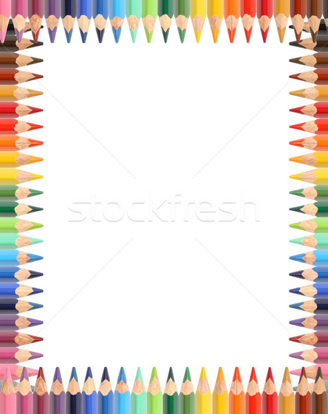 Kalemler çerçeve resim çerçevesi ayarlamak renk kalem Stok fotoğraf © cosma