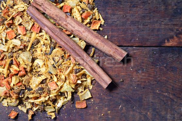 Stock fotó: Fahéj · fűszer · kettő · száraz · öntet · öreg