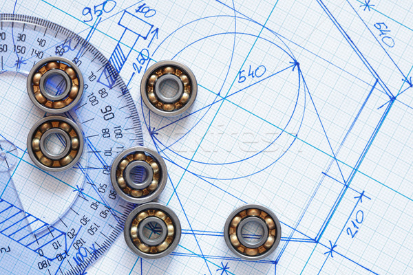 Ipari kevés vonalzó grafikon papír Stock fotó © cosma