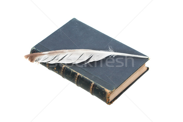 Old Book And Quill Pen Stock photo © cosma