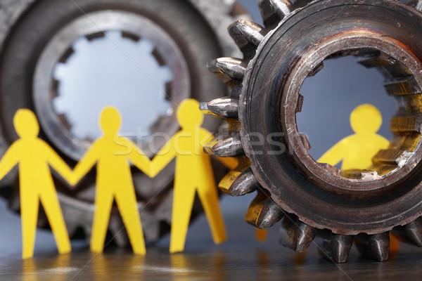 People Between Gears Stock photo © cosma