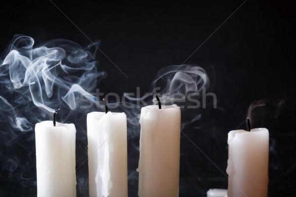 Extinguished Candles On Dark Stock photo © cosma