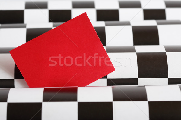 Blank Red Card Stock photo © cosma