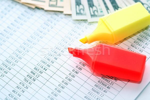Ponta canetas dinheiro par papel dígitos Foto stock © cosma