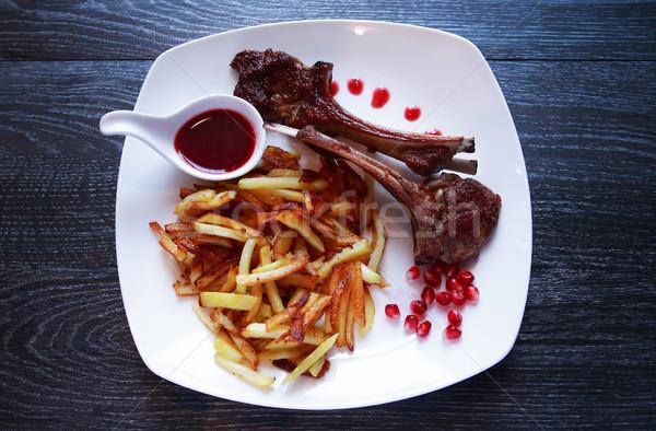 Grilled Lamb Chops Stock photo © cosma
