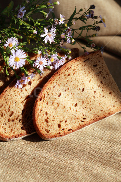 Bread And Flowers Stock photo © cosma