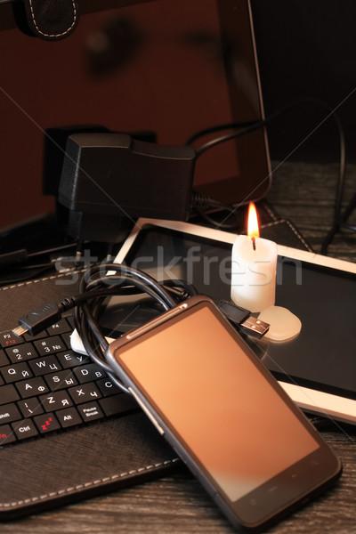 Kütyük energia világítás gyertya szett modern Stock fotó © cosma