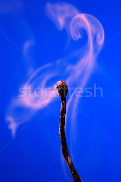 Partido azul humo fuego fondo macro Foto stock © cosma