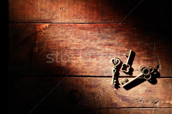 Keys On Wood Stock photo © cosma