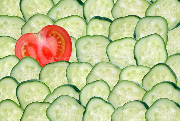 個性 1 スライス 赤 トマト ストックフォト © cosma