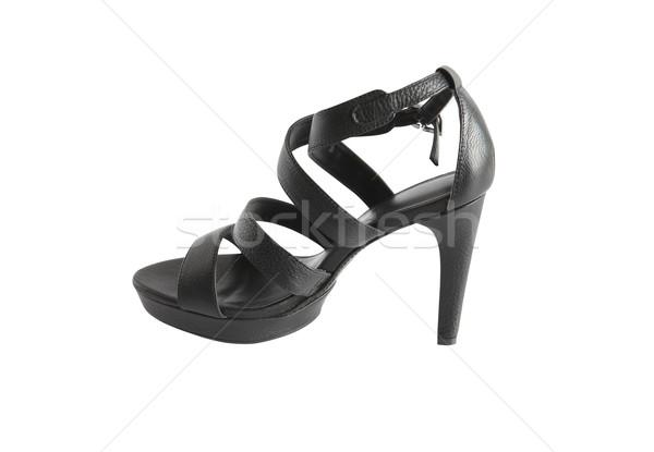 şık kadın ayakkabı siyah yaz Stok fotoğraf © cosma