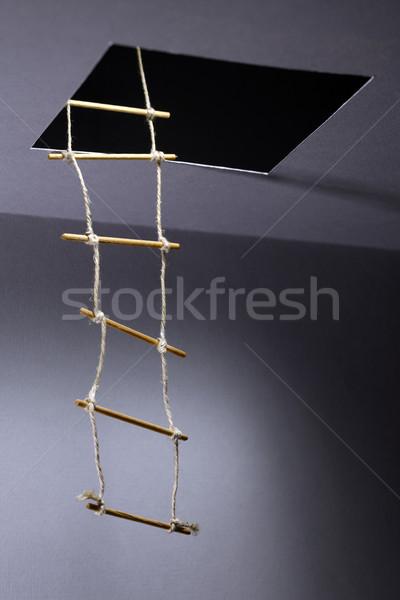 ロープ はしご 脱出 家 抽象的な ストックフォト © cosma