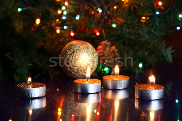 Christmas Candles Stock photo © cosma