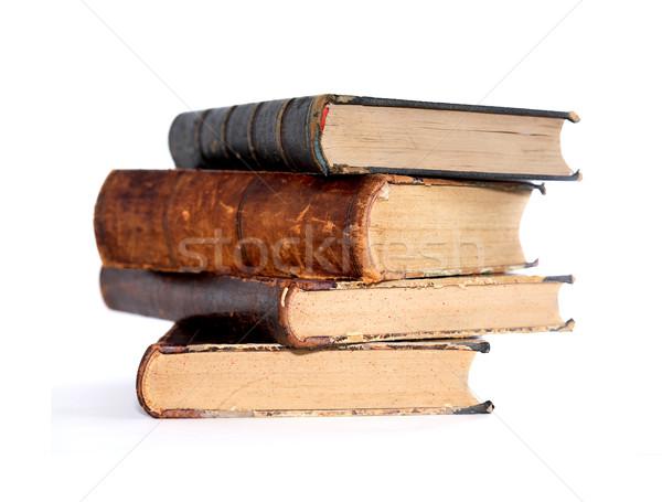 Velho livros branco literatura livro Foto stock © cosma