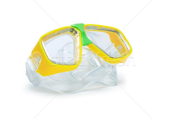 Scuba stofbril moderne Geel geïsoleerd witte Stockfoto © cosma