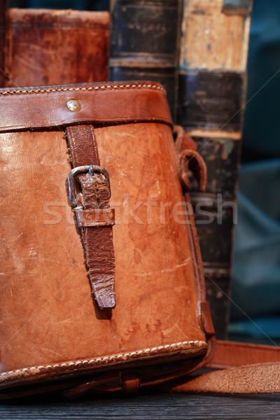 Old Leather Case Stock photo © cosma