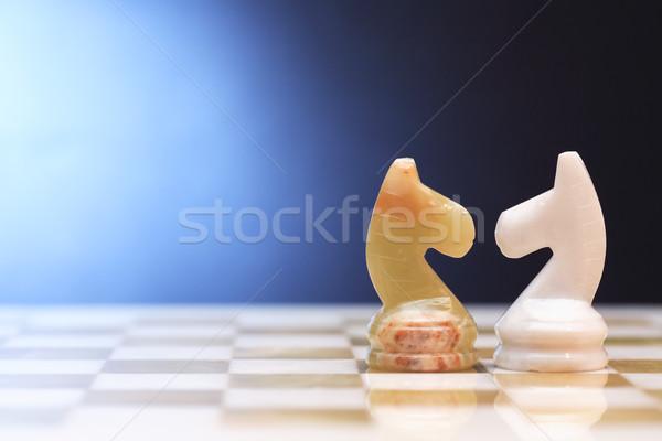 Chess Horses On Board Stock photo © cosma