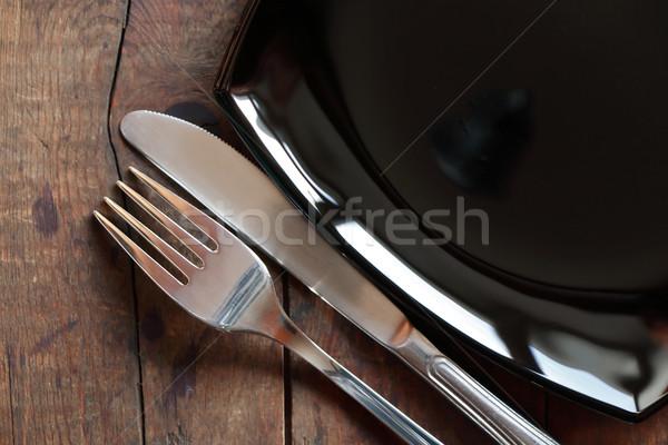 Dishware On Wood Stock photo © cosma